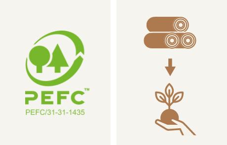 PENONは認証木材を使用しています。